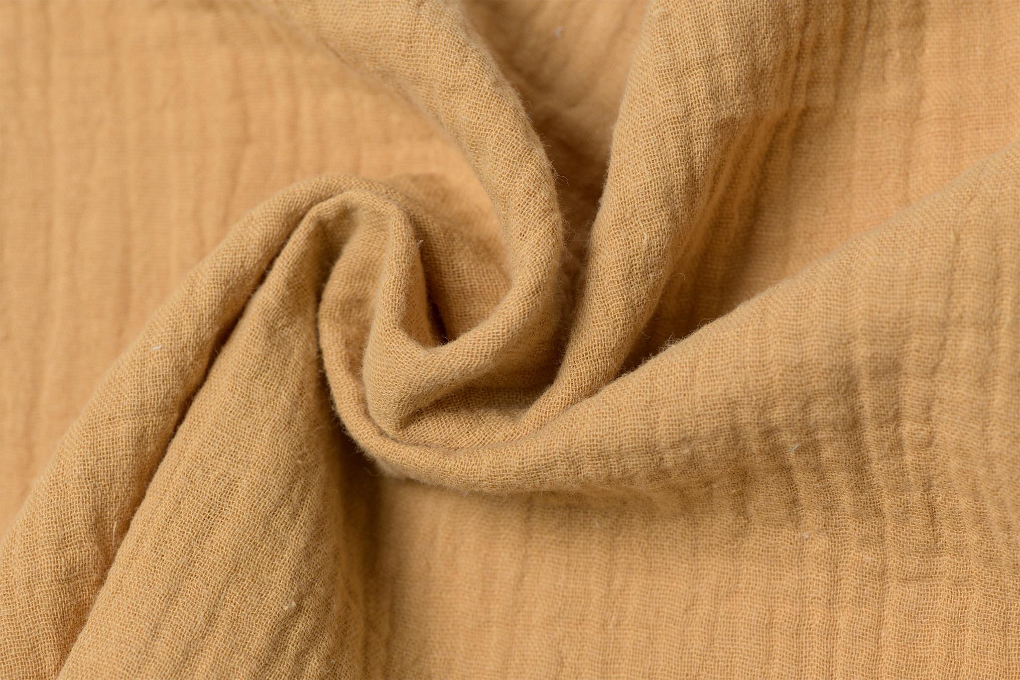Baby Cotton / Mousseline Uni / Effen Camel