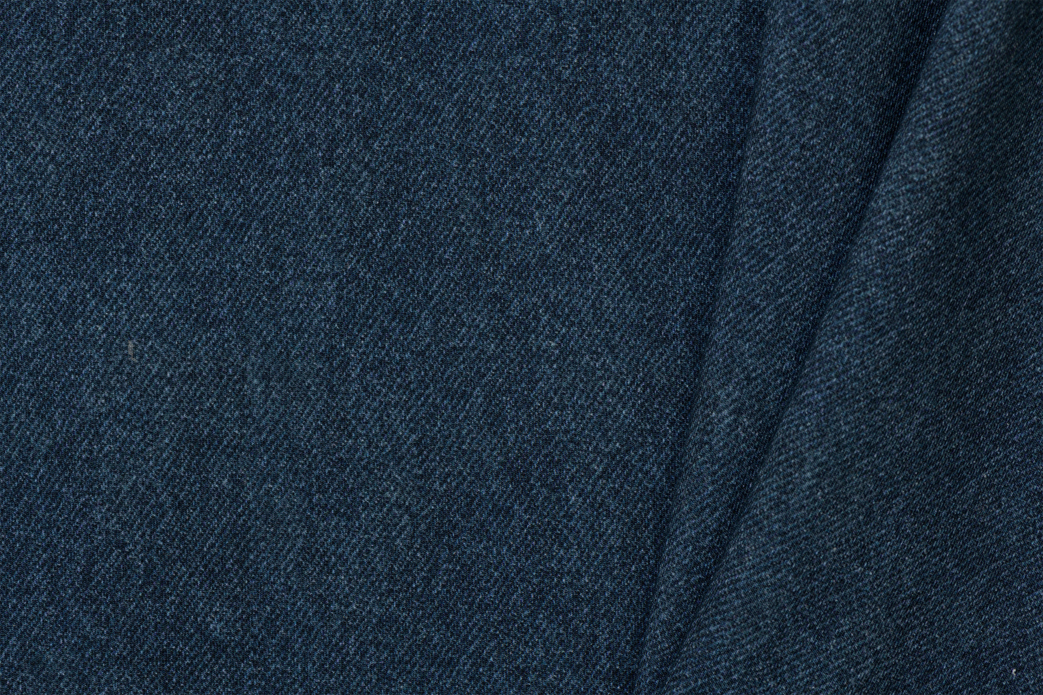 by Poppy designed for you French Terry GOTS Digital Jeans Dark Blue