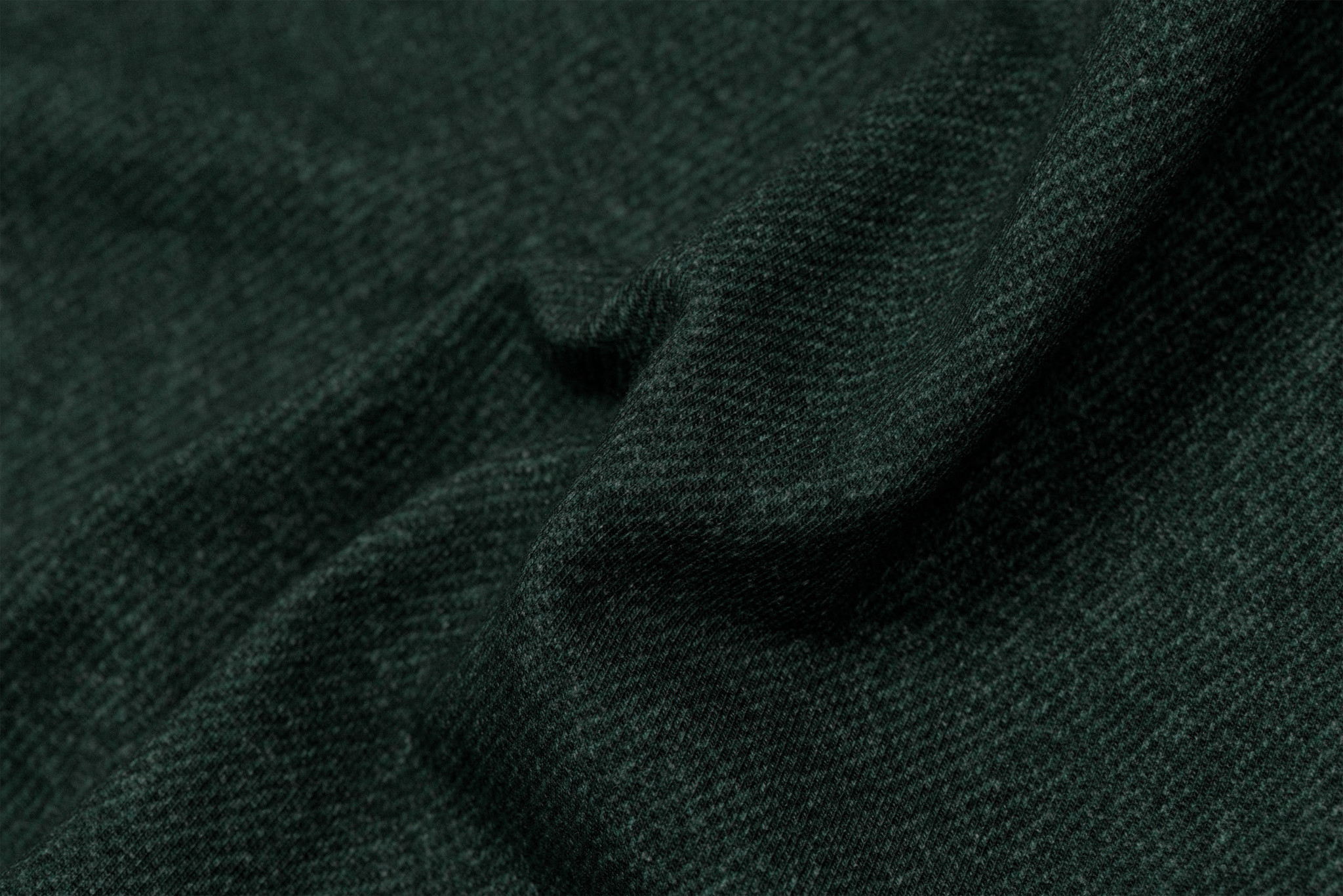 by Poppy designed for you French Terry GOTS Digital Jeans Dark Green