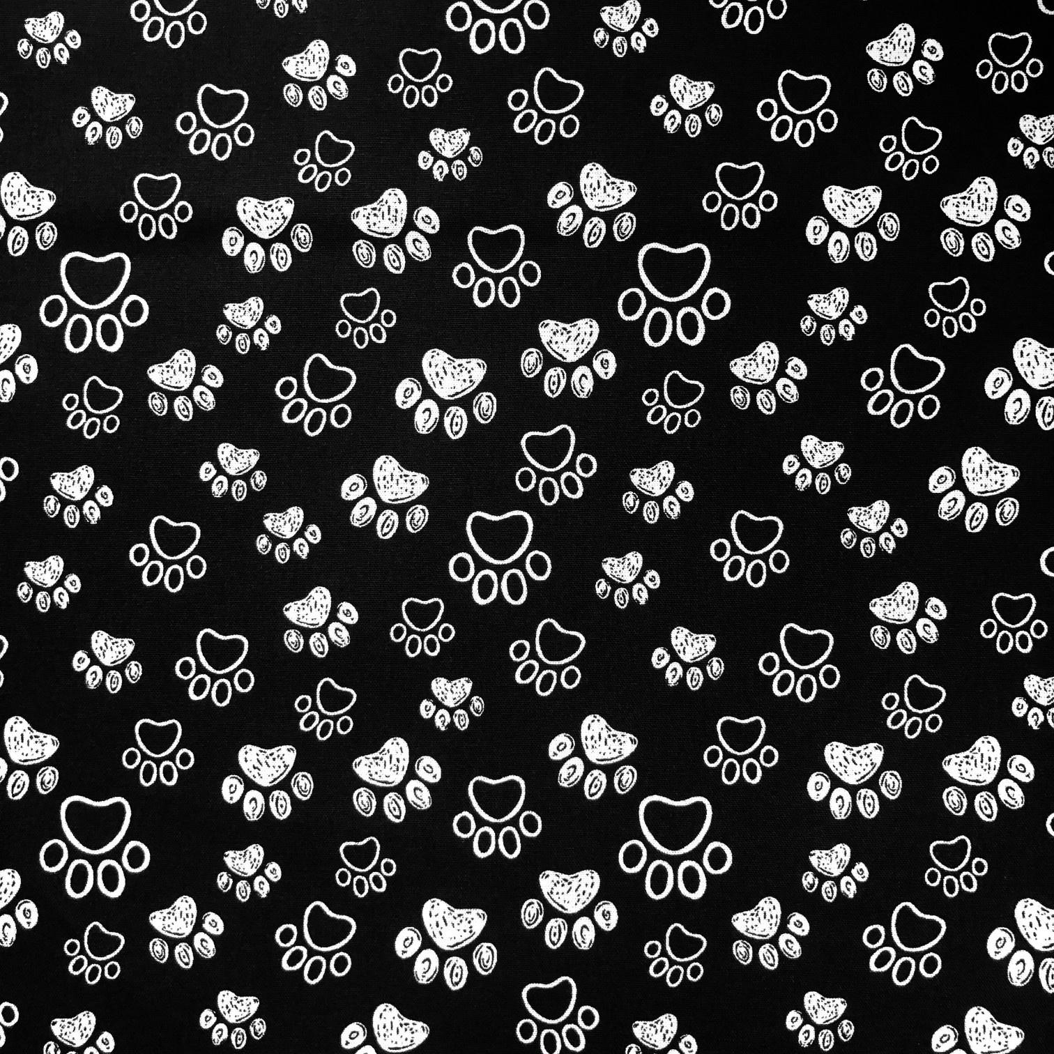 Katoen Dog's Feet Black & White
