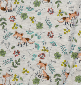 Alpen Sweat Fox Vintage Flowers Off  White Melange