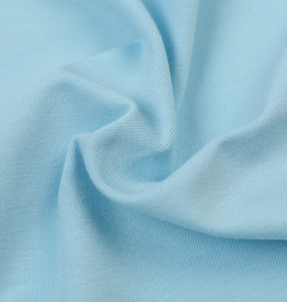 by Poppy designed for you GOTS Jersey Uni / Effen Light Blue