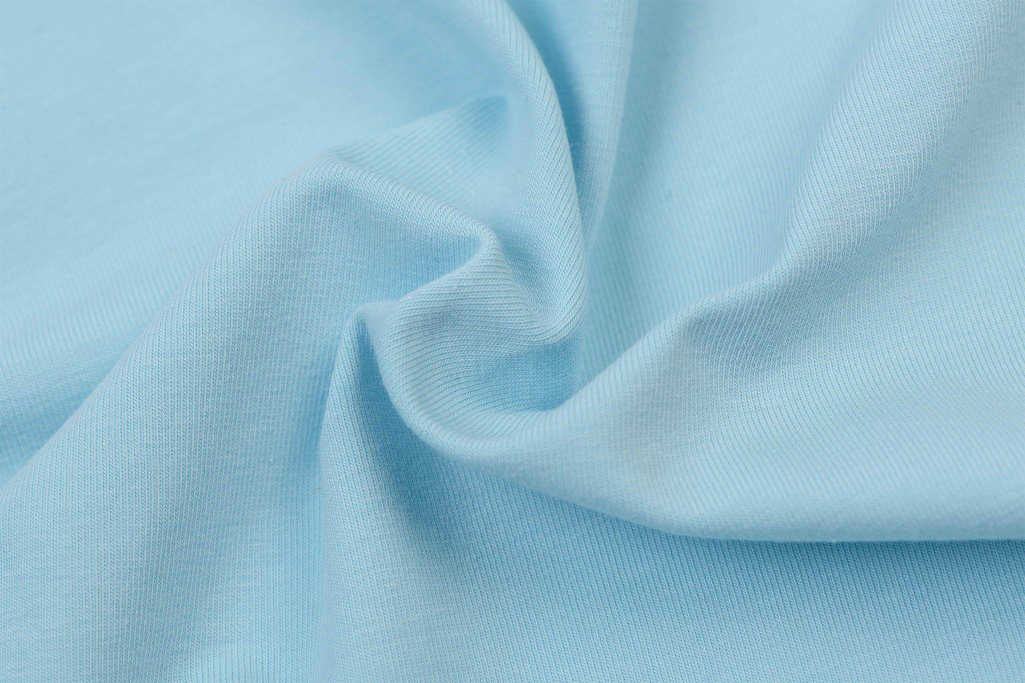 by Poppy designed for you GOTS Jersey Uni / Effen Light Blue