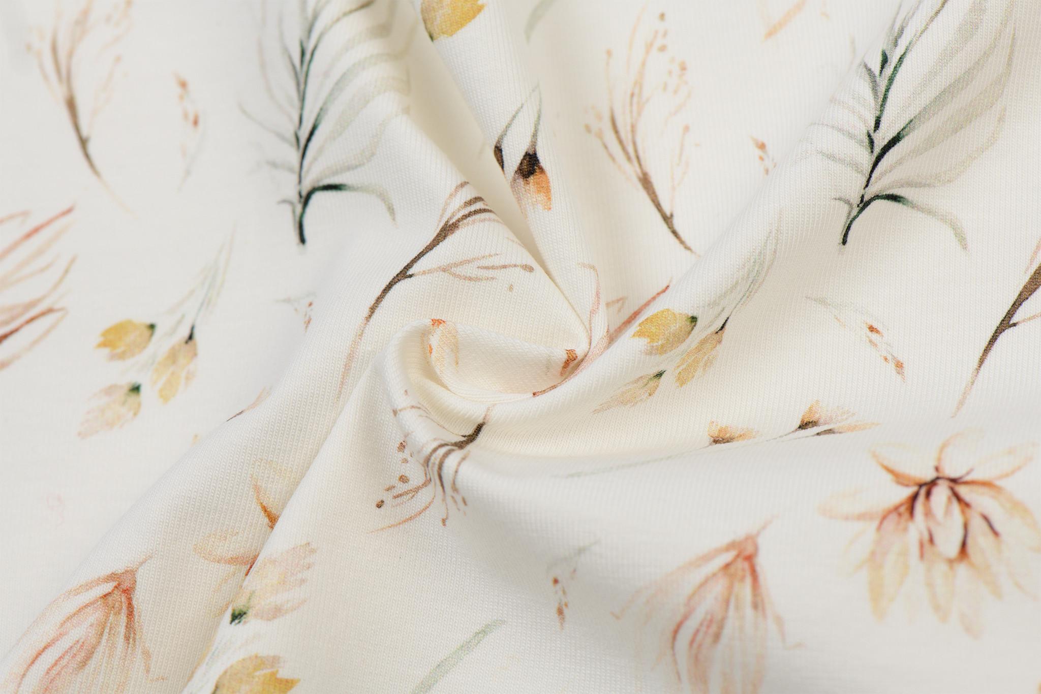 Poplin Katoen Digitale Print - Boho Boheemse Bloemen