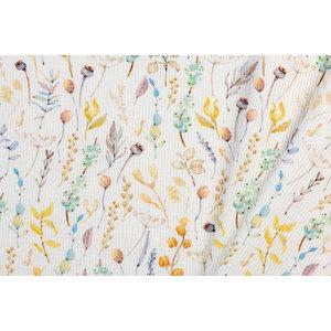 Wafel Jersey Stof - Dried Flowers