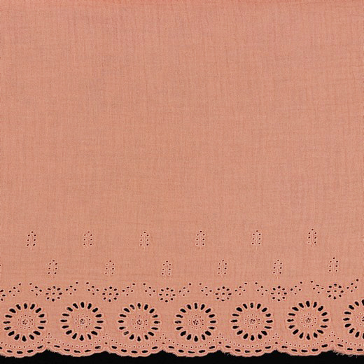 by Poppy designed for you Double Gauze / Mousseline Border 1-SIDE Salmon