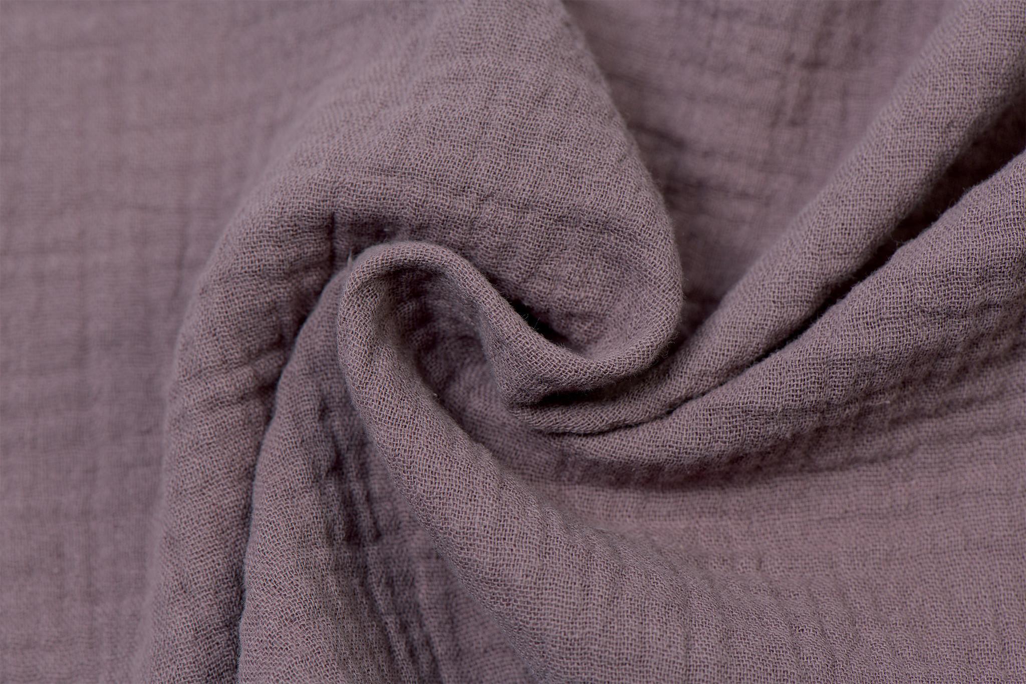 Baby Cotton / Mousseline Uni / Effen Oud Mauve
