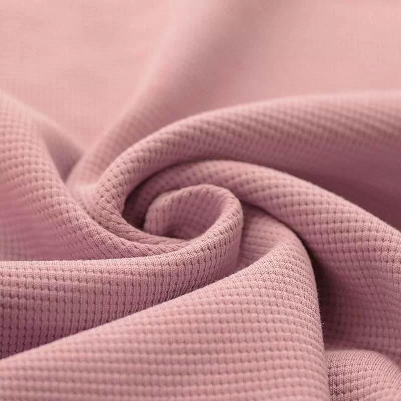Wafel Jersey Stof Nude Roze
