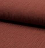 Qjutie Kids Baby Cotton / Mousseline Uni / Effen Dusty Terra