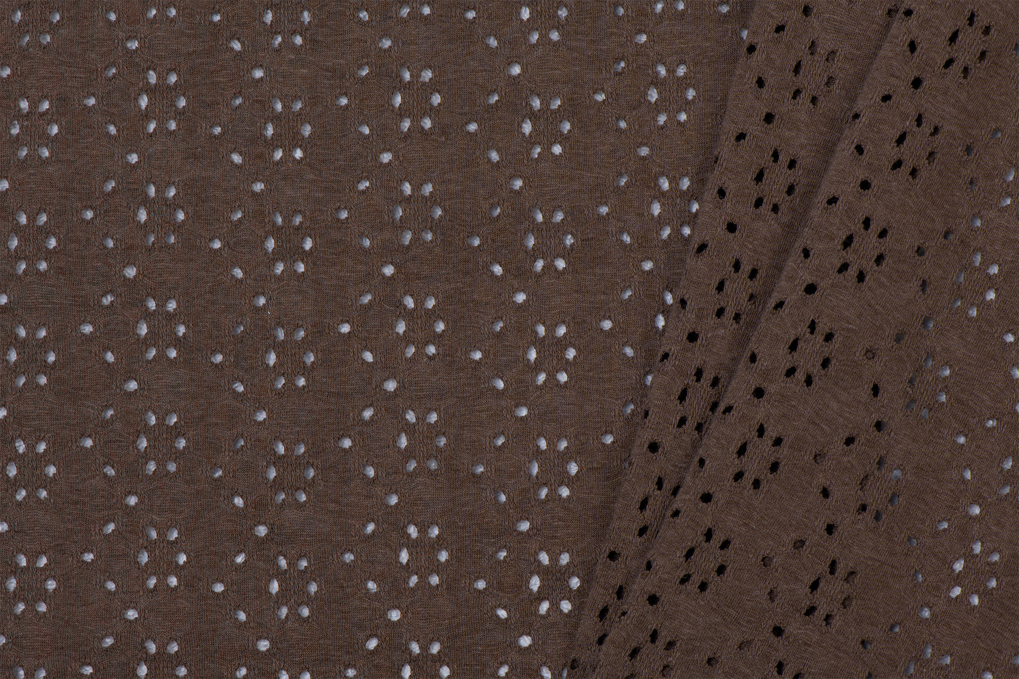 Broderie Tricot Bruin / Taupe