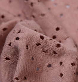 Broderie Tricot Oud Rose