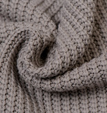 Gebreide stof, Big Knit Cable Taupe