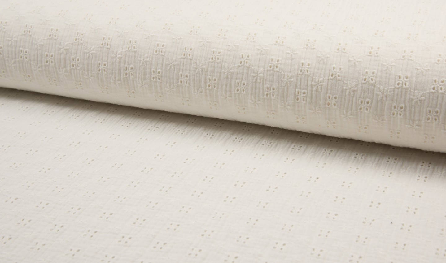 Qjutie Kids Baby Cotton / Mousseline Embroidery Off White