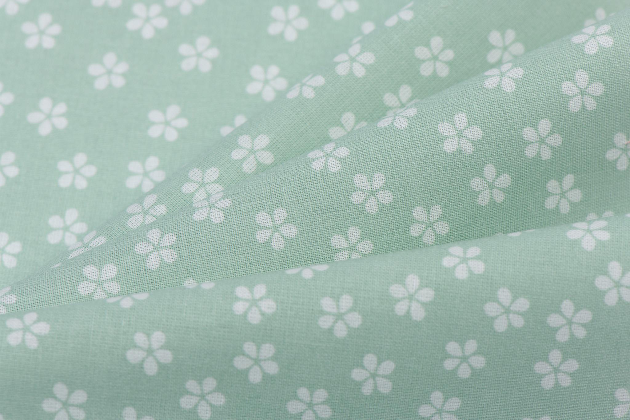 by Poppy designed for you Katoen Poplin Flower & Stripes Mint