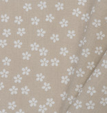 by Poppy designed for you Katoen Poplin Flower & Stripes Beige