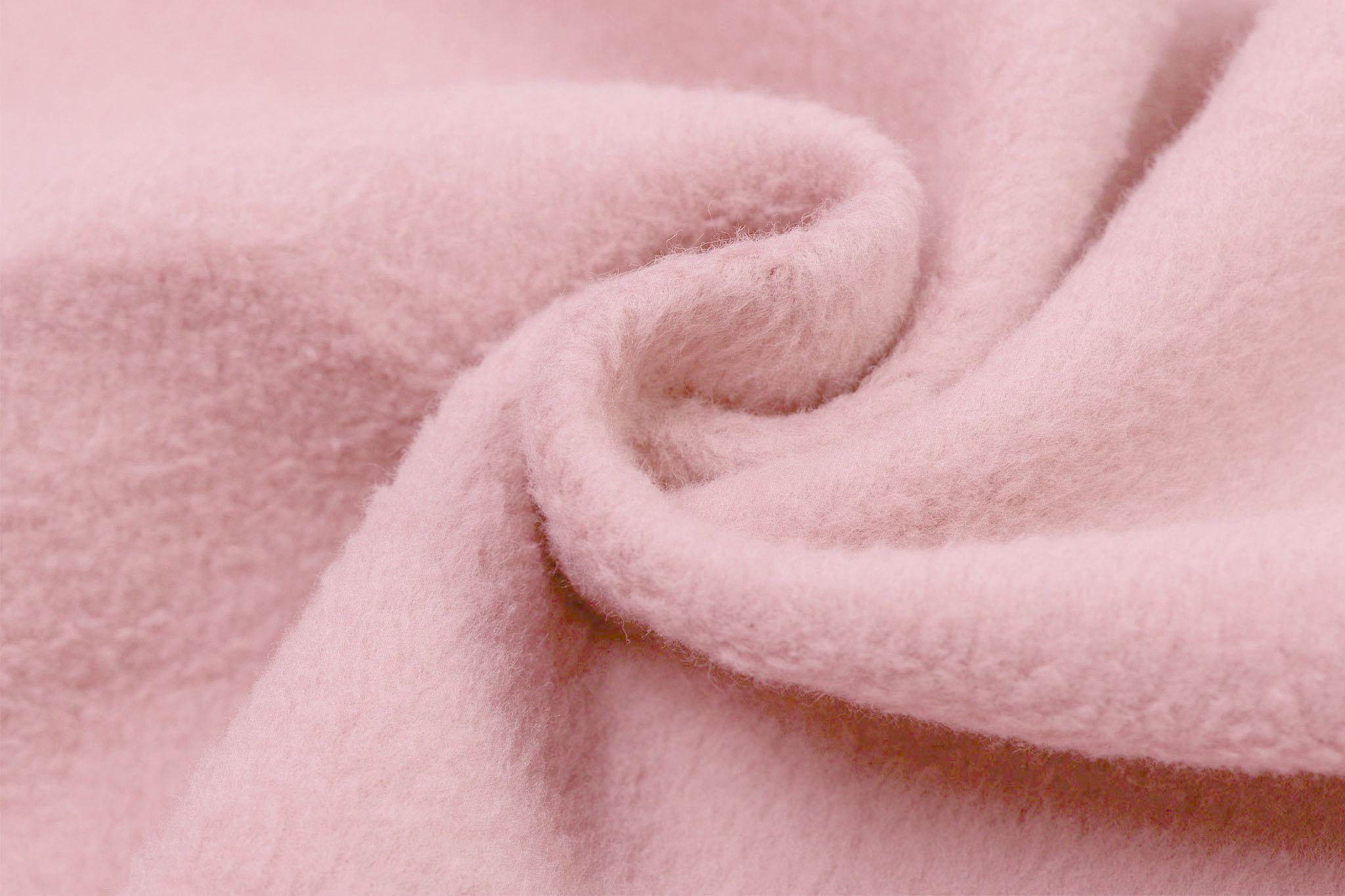 Fleece Katoen Light Rose
