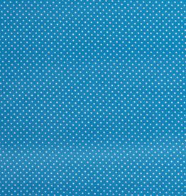 Katoen mini stip turquoise
