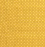 Katoen mini stip geel