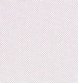 Katoen mini stip wit / rood