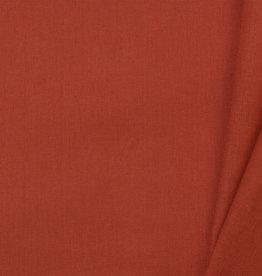 Uni katoen stof Copper Orange