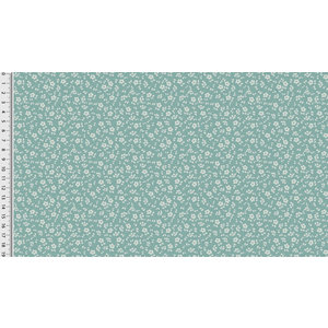 Toff Designs Katoen Poplin Sweet Flowers Dusty Mint