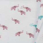 Toff Designs Jersey Elephants Off White
