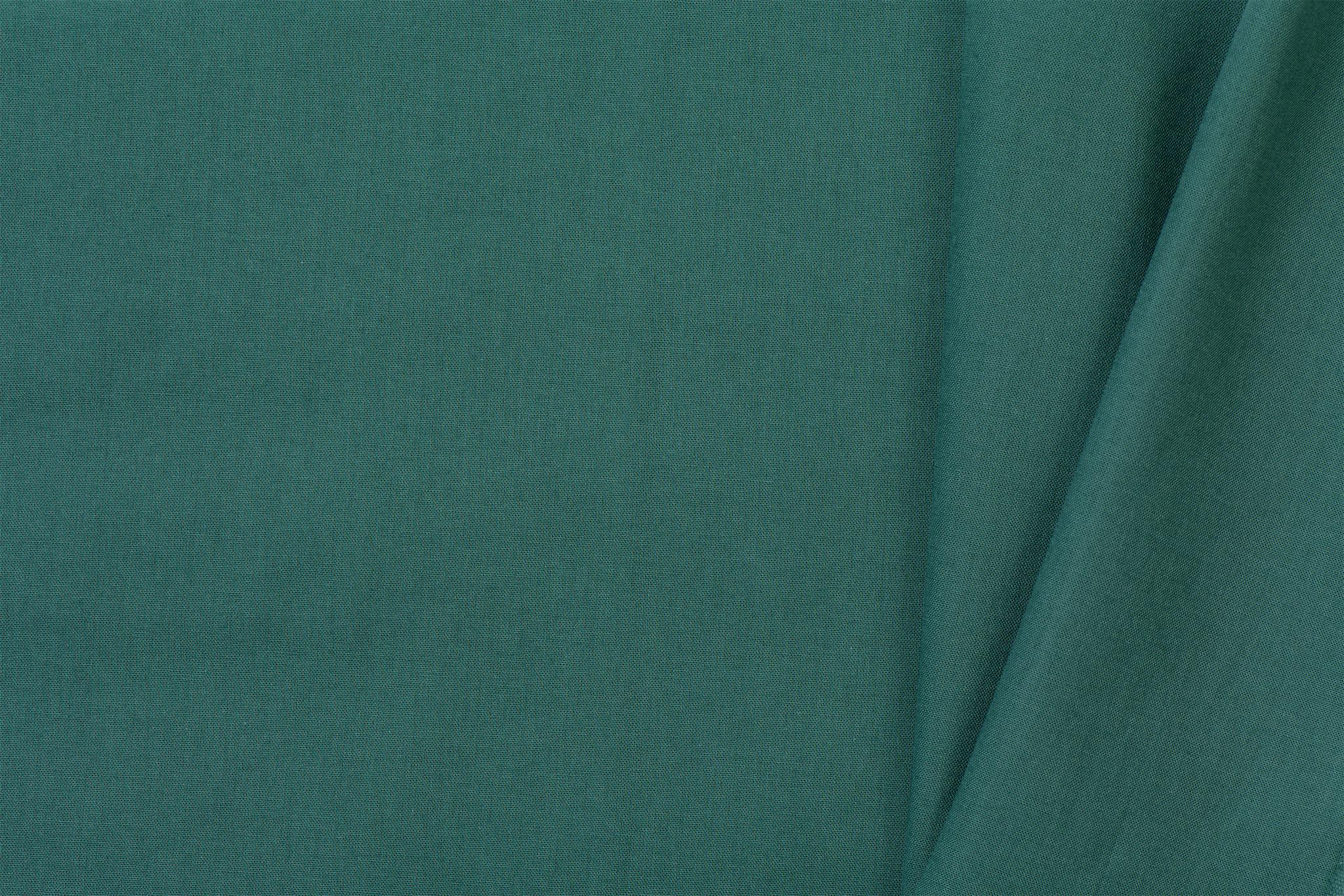 Uni katoen stof Emerald / Jade