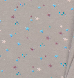 Toff Designs Jersey Digital Stars Light Taupe