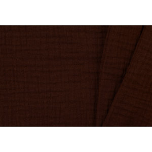 Baby Cotton / Mousseline Uni / Effen Chocolate