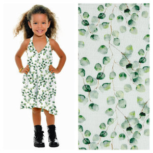 by Poppy designed for you GOTS Double Gauze / Mousseline Digital Eucalyptus White
