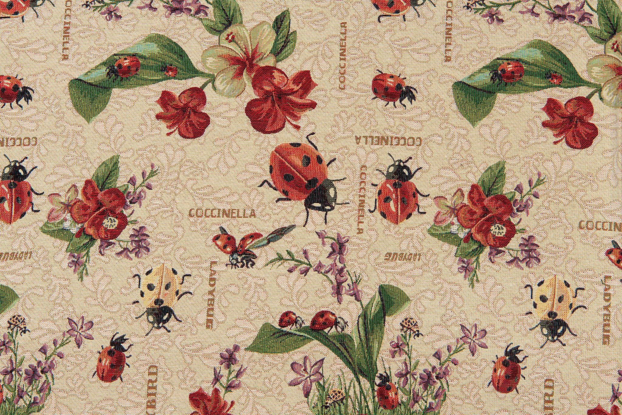 Gobelin Stof Ladybug and Flower