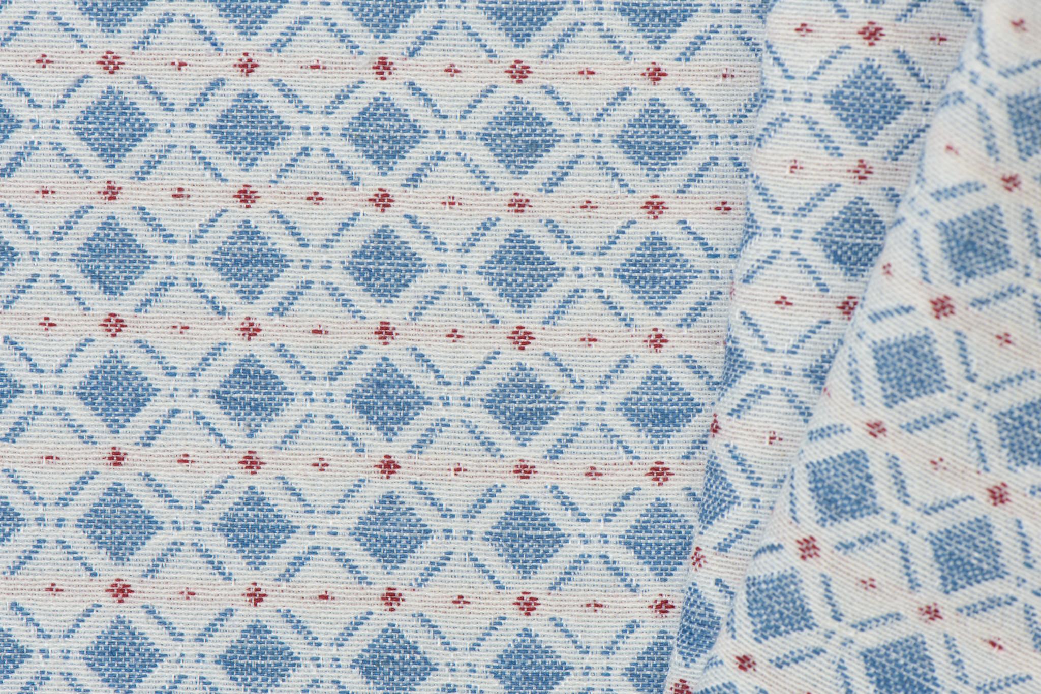 Gobelin Stof Abstract Blue
