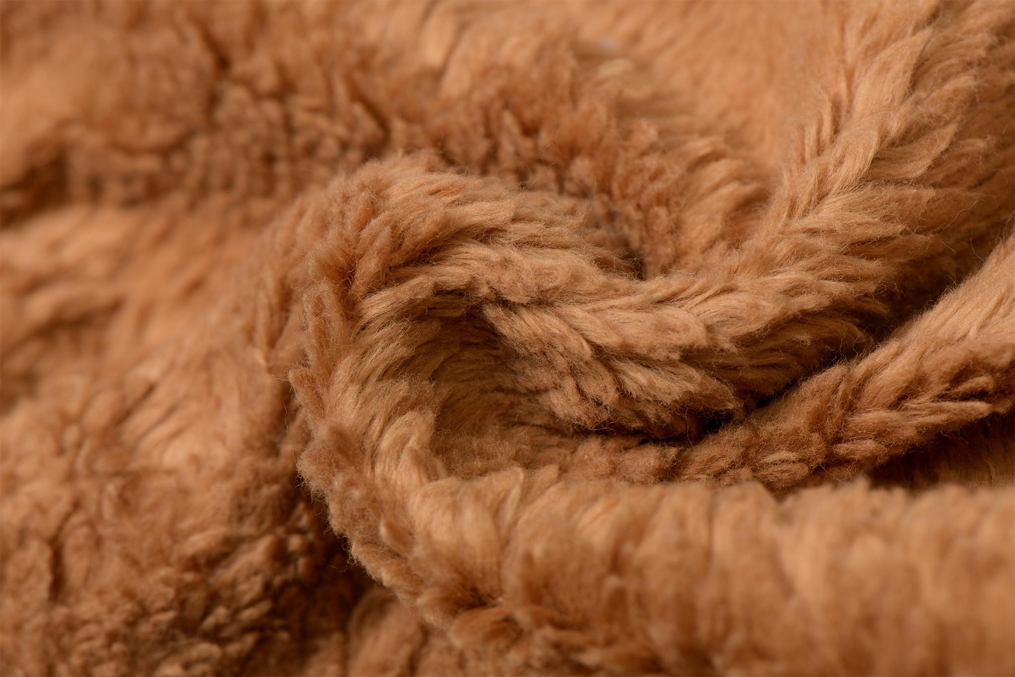 Cotton Teddy Stof Amber