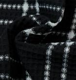 Wafel Katoen Check Zwart