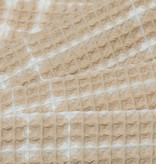 Wafel Katoen Check Sand Beige