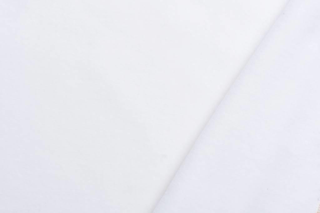 Velours stof, wit