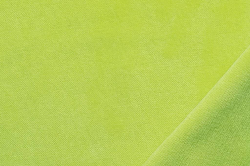 Veloursstof, lime