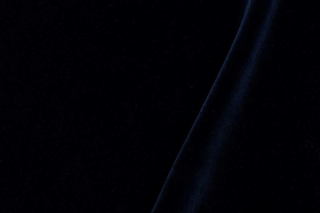 Velours stof, marineblauw