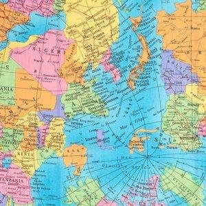 Wereldkaart katoen