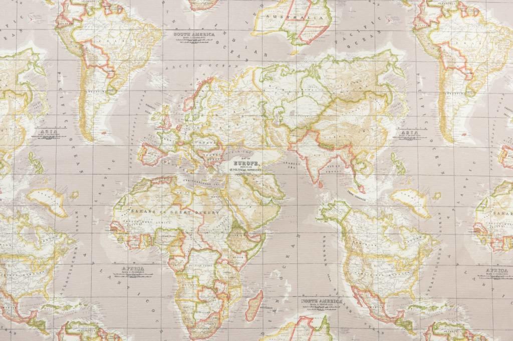 Wereldkaart canvas 01