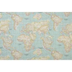 Wereldkaart canvas 02