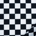 Vlaggen geblokt zwart/wit