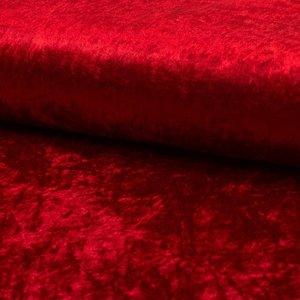 Velours de pannes uni rood