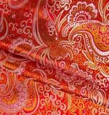 Brokaat Rood-Oranje / Goud