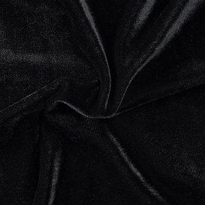 Stretch Fluweel Zwart