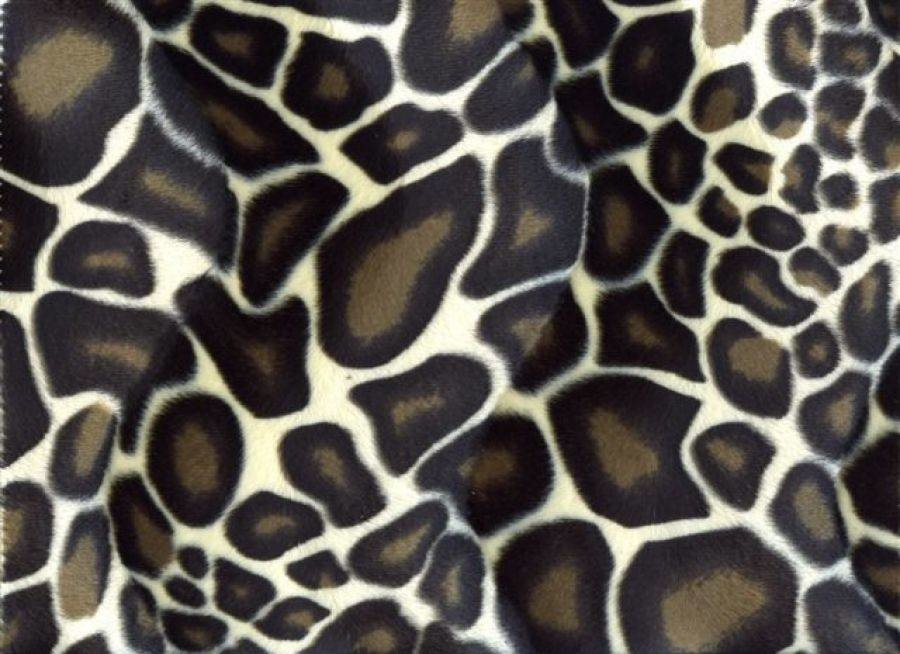 Velboa Dierprint Giraffe 01