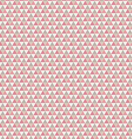 Toff Designs Katoen Poplin Triangles Pink
