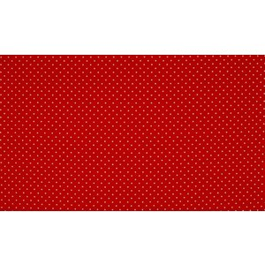 Katoen mini stip rood