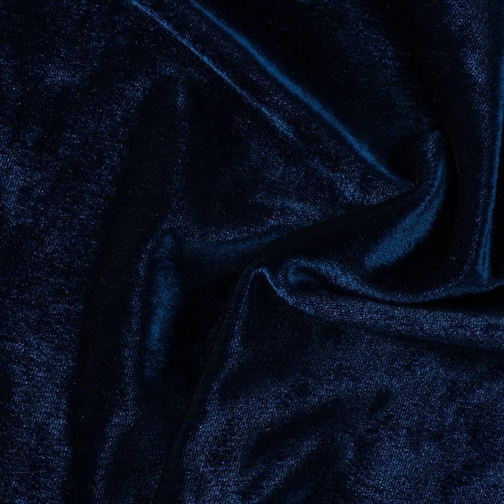 Stretch Fluweel, Marineblauw