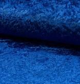 Velours de pannes uni blauw